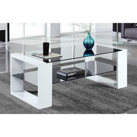 vera table basse 120x60cm laqu 233 noir et blanc achat vente table basse vera table basse n b