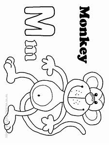 free-letter-m coloring pages for-preschool - Preschool Crafts