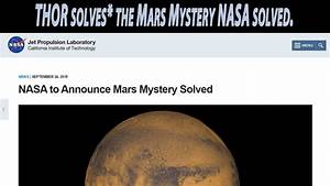 Breaking News! I solved the Mars Mystery that NASA will ...