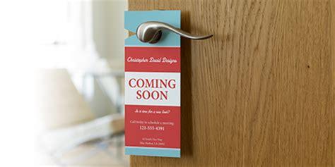 custom door hangers custom door hangers vistaprint