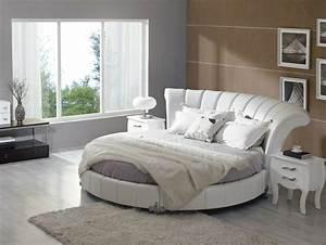 Beige Grau Wandfarbe : runde betten f r die schlafzimmer einrichtung 36 ideen ~ Sanjose-hotels-ca.com Haus und Dekorationen