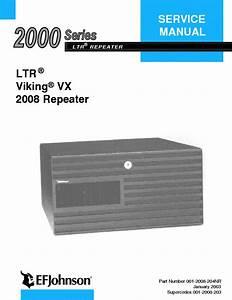 Efjohnson 2008 Repeater Ltr Viking Vx 2000 Series Service