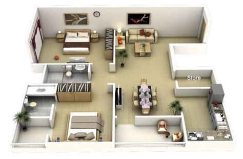 Two Bedroom Apartment Design Plans 20 interesting two bedroom apartment plans home design lover