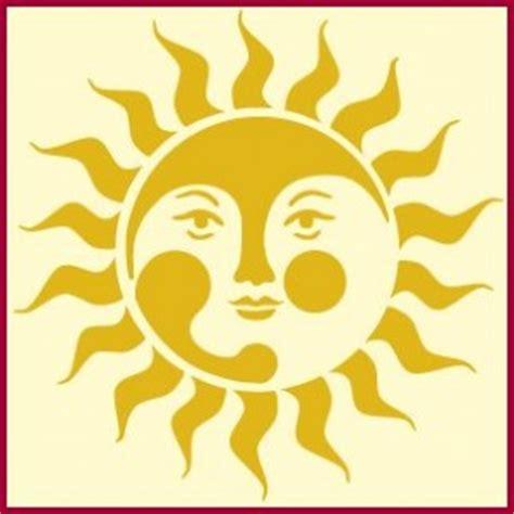 sun moon stars stencil sun stencil  moon stencil