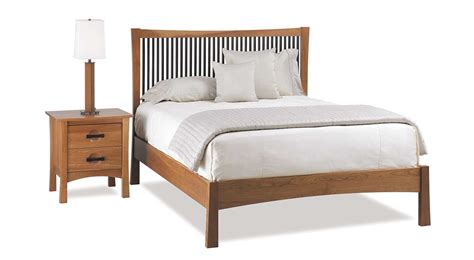 circle furniture berkeley bed cherry  walnut beds