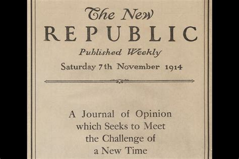 The New Republic And The Idea Of Progress  Jstor Daily
