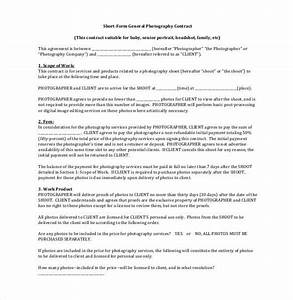 royalty free license agreement template - short form general photography contract 20 photography