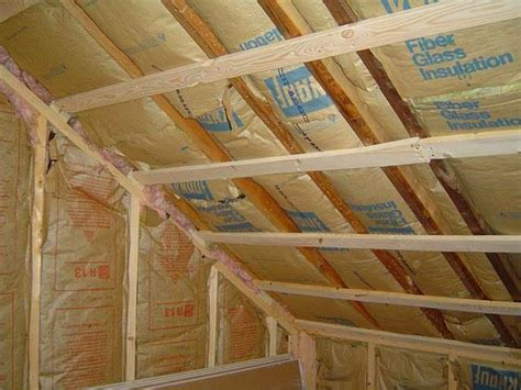 insulating cathedral ceilings with batts how to install fiberglass insulation non drywalled ceiling