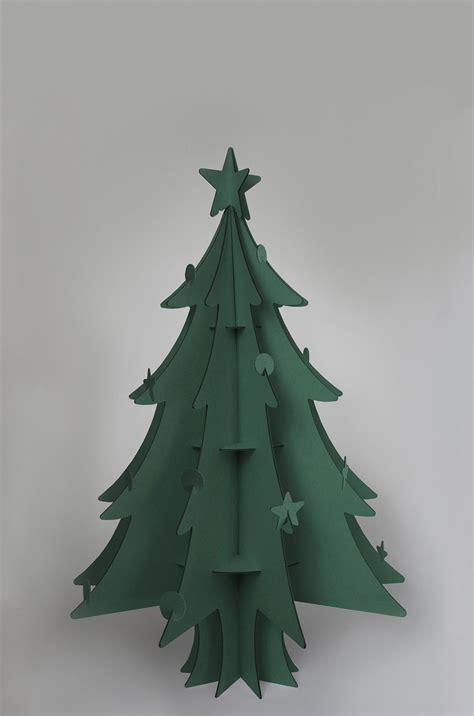 100 recycled cardboard christmas tree by cascades