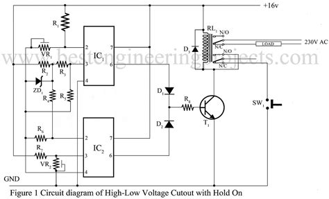 High Low Voltage Cut Out Using Amp