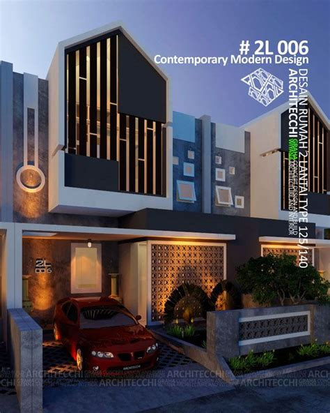 desain rumah  lantai  contemporary modern arsitek