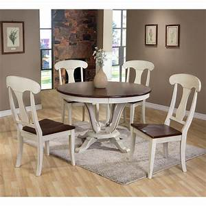 Baxton, Studio, Napoleon, Chic, Country, Cottage, 5, Piece, Round, Dining, Table, Set