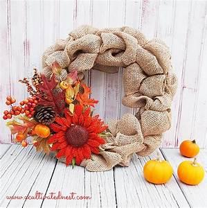 My DIY Fall Burlap Wreath