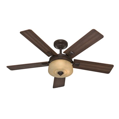 hunter ceiling fans with lights clearance shop hunter 52 in onyx bengal bronze downrod mount ceiling