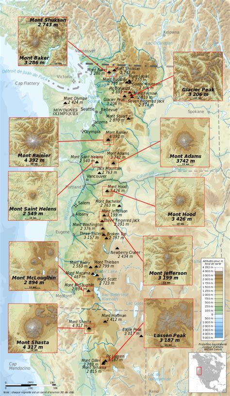 cascade mountain range map cascade mountain range map images