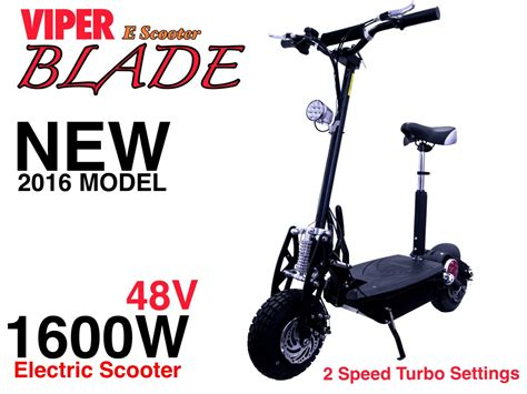 Electric Scooter 1600w 48v Viper Blade New 2016 Model