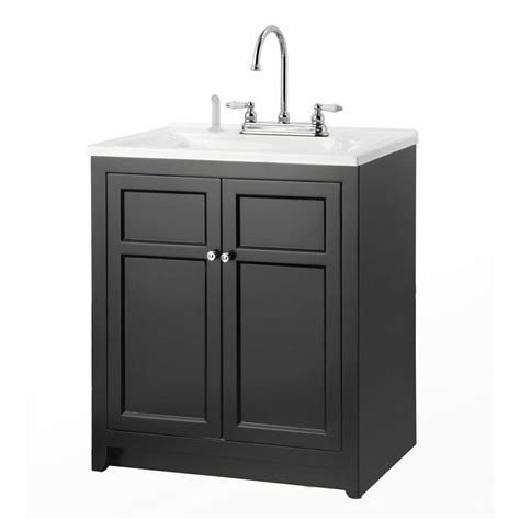 utility cabinets home depot foremost conyer 30 in laundry vanity in black and premium