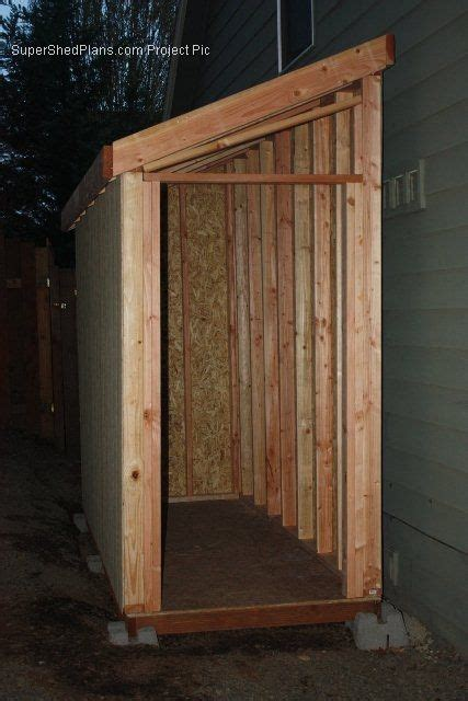 slant roof shed plans  diy projects