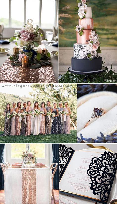 wedding trends chic rose gold wedding ideas