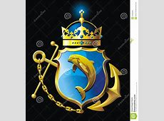 Coat Of Arms With Dolphin Stock Images Image 24200404