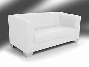 2 Sitzer Sofa Günstig : chicago 2 sitzer sofa ledersofa weiss ~ Frokenaadalensverden.com Haus und Dekorationen