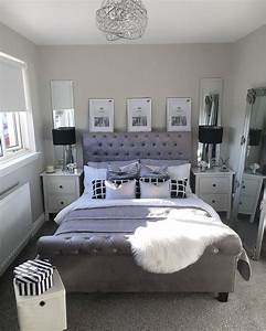 Master, Bedroom, Inspo, Goals, Pictures, Above, Bed, Mirrored, Bedside, Tables, Ikea, Tables, Black, Table