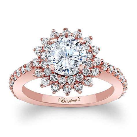 barkev s rose gold halo engagement ring 7969lp barkev s