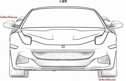 Ferrari Drawings Patent Sketches F12 Sketch Sp