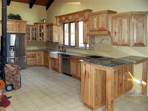kitchen hickory cabinets  custom hickory kitchen