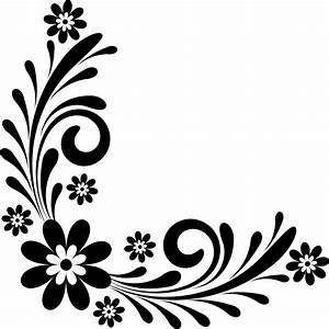 page border designs flowers black and white clipartsco With what kind of paint to use on kitchen cabinets for wedding scrapbook stickers