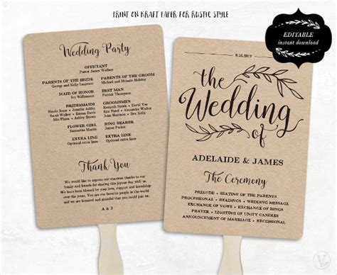 wedding fan template wedding program template 41 free word pdf psd documents free premium templates
