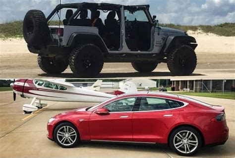 tesla jeep concept from jeep wrangler to tesla model s going from one