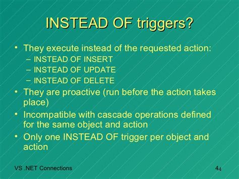 Achieve the Impossible: Use INSTEAD OF triggers in SQL