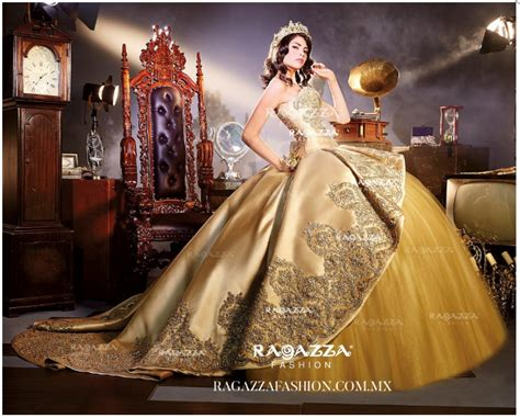 Beaded Strapless Quinceanera Dress By Ragazza