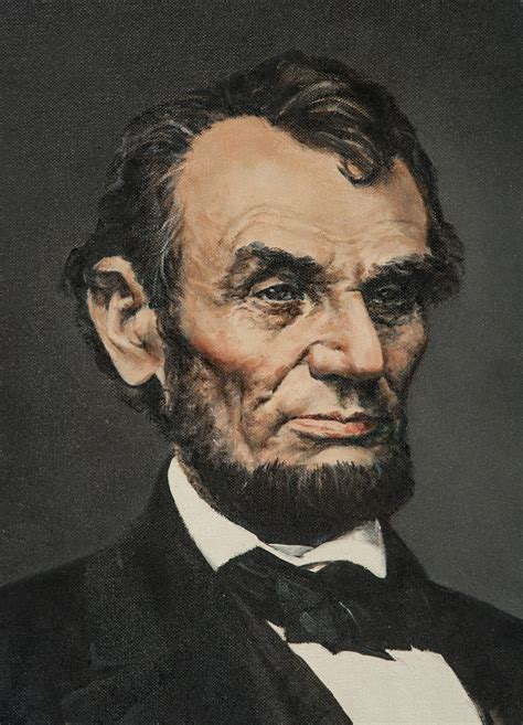 lot detail abraham lincoln original painting by bruce stark based anthony berger s quot 5
