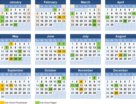kalendar  johor  calendar printable