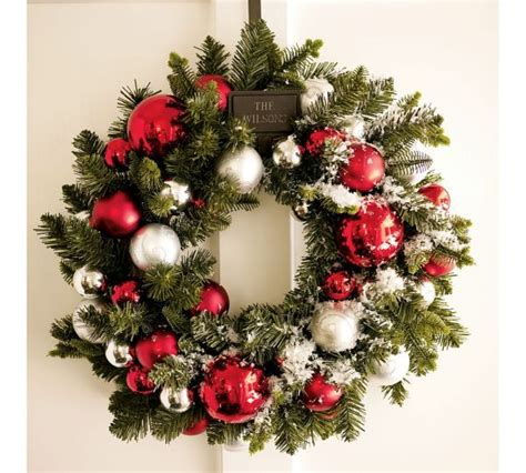 christmas wreath designs 15 christmas wreath ideas for 2010 by potterybarn