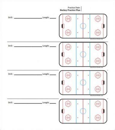 hockey practice sheet template
