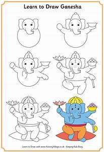 How To Draw Ganesh For Kids | Joy Studio Design Gallery ...