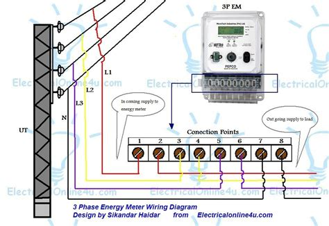 energy meter wiring diagram wiring diagram and schematic