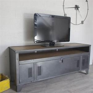 Meuble Tele Industriel : meuble tv industriel vestiaire avec authentique vestaire et niche ~ Teatrodelosmanantiales.com Idées de Décoration