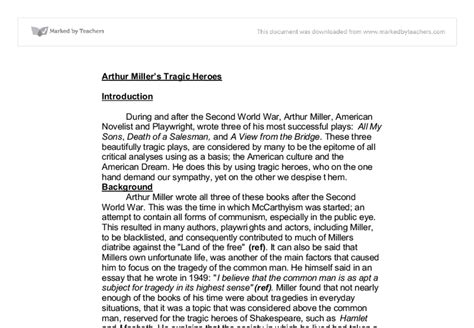 arthur miller essay on why 28 images college essays
