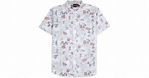 Lyst - Jem Men''s Mickey Mouse Cell Pattern Shirt in Gray ...