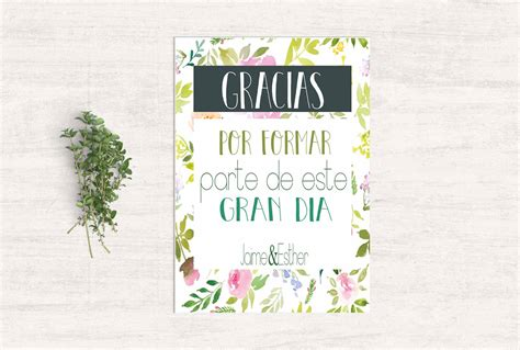 tarjeta de agradecimientos tarjetas de agradecimiento boda flores estilo boda