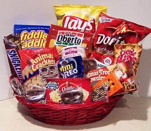 Christmas Gifts in Monroe Michigan MI Junk Food Gift Basket