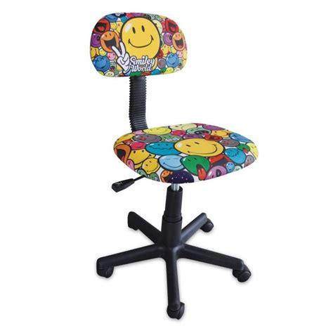 fauteuil de bureau racing smiley chaise de bureau enfant petit modèle achat