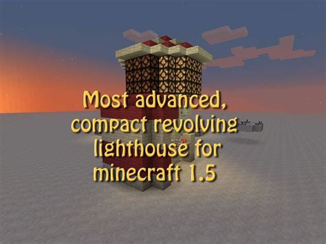 compact slowly revolving lighthouse  minecraft  tutorial build  redstone lamps youtube