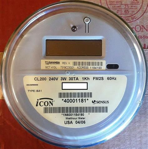 Sensus Watthour Meter Kwh Icon Type Isai Volts