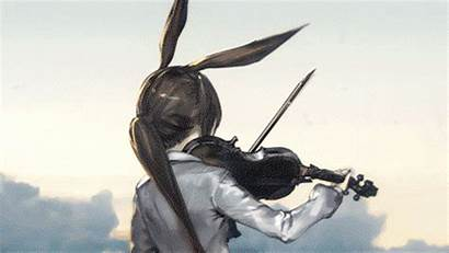 Arknights Amiya Arknight Gifs Violin Anime Frontline