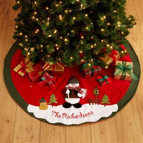 personalized snow cap christmas tree skirt walmart com